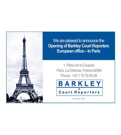 Opening Of European Office Paris France Barkley Court