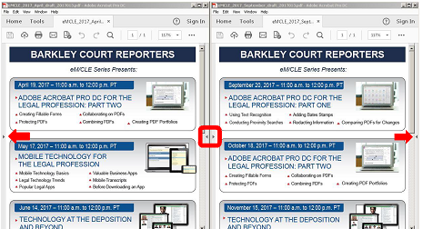 Can't Remember What the Transcript Says? View Your PDFs Side